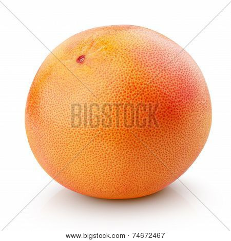Ripe Grapefruit Citrus Fruit Isolated On White