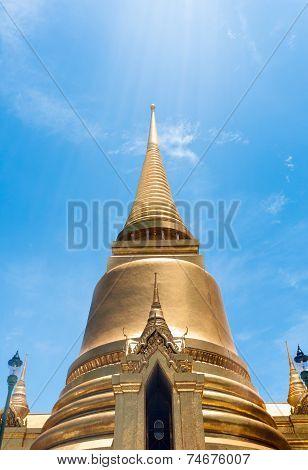 Golden Chedi Bangkok Temple In Thailand.