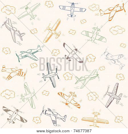 airplanes pattern color
