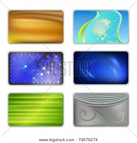 Abstract Colored Drapery Background Set