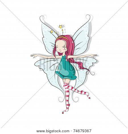 Cute  little Christmas fairy