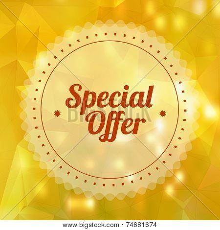Vintage Sale Special Offer Sticker