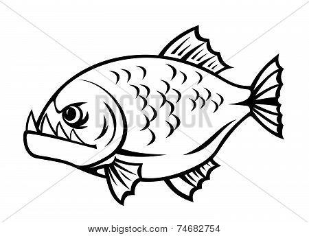 Angry piranha