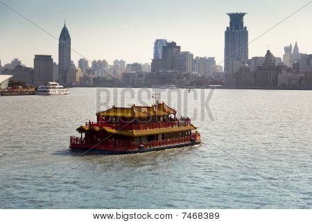 Touristic Cruise In Shanghai, China