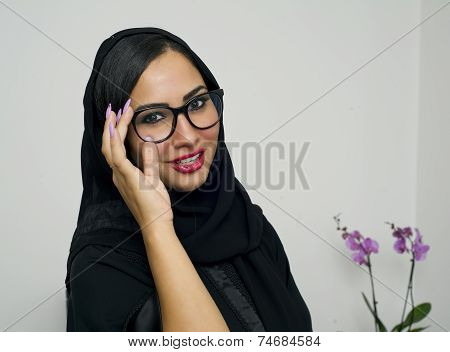 Beautiful Arabian Woman wearing Hijab