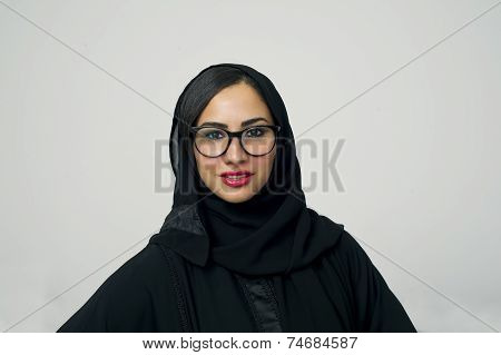 Portrait of a beautiful Arabian Woman wearing Hijab