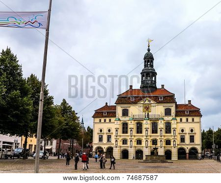 The historical Town Hall in Lueneburg, Germany