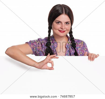 Woman With A Blank