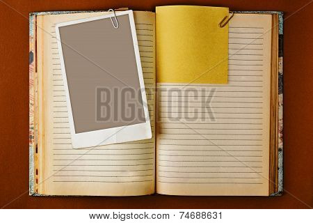 Old Notebook With Stained Pages Design