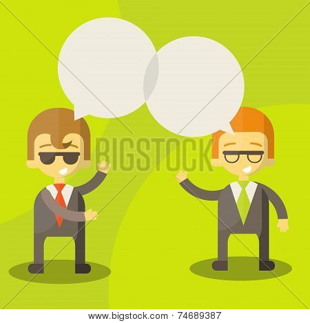 dialogue businessmen
