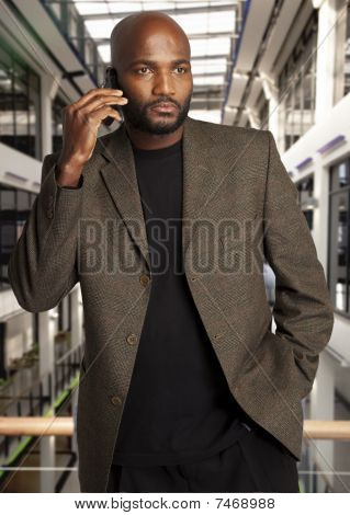Suave black businessman