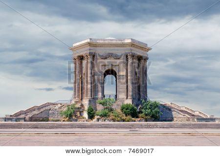 Water tower in Peyrou garden Montpellier