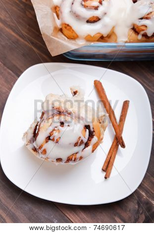 Delicious Glazed Cinnamon Bun