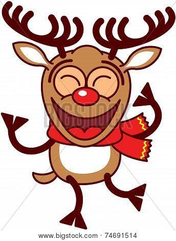 Cute Xmas reindeer dancing