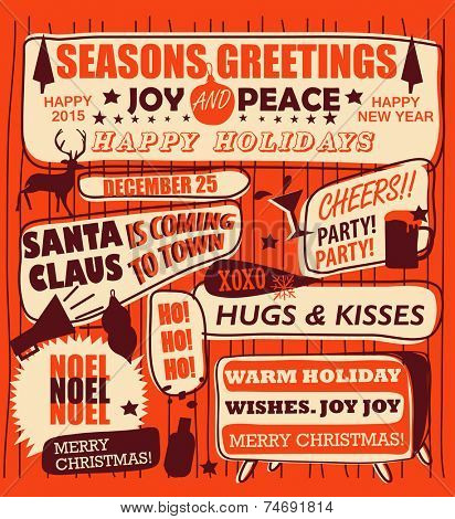 Retro Vintage Holiday Poster