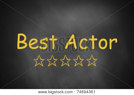 Black Chalkboard Best Actor Golden Rating Stars
