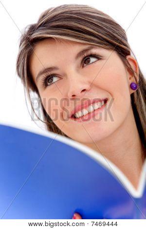 Pensive Female Student