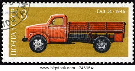 Truck Postage Stamp.