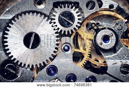 Old clock mechanism. Element of design.