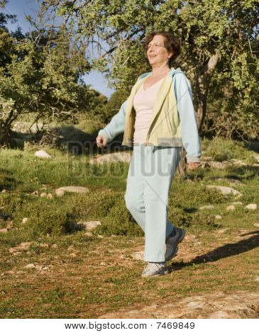 Senior Woman Walking