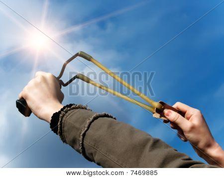 Weapon  Throwing   Slingshot
