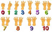 picture of numbers counting  - Illustration of a set of number zero to ten - JPG