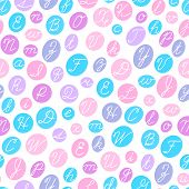 picture of cursive  - Seamless pattern with English cursive letters - JPG