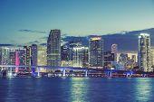 image of florida-orange  - Miami Florida USA with special photographic processing - JPG