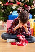 image of sad christmas  - Christmas stocking  - JPG