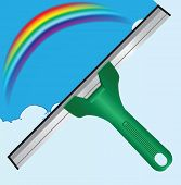 pic of end rainbow  - Scraper for cleaning windows and a rainbow - JPG