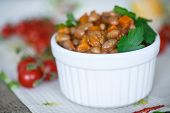 stock photo of lenten  - red bean stew with carrots tomatoes and vegetables - JPG