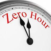 stock photo of zero  - Zero hour on a clock - JPG