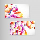 stock photo of teardrop  - Sample business card with bright teardrop - JPG