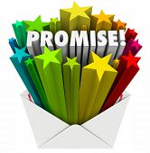 picture of promises  - Promise word in an envelope to illustrate an oath - JPG