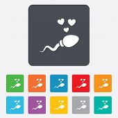 image of insemination  - Sperm sign icon - JPG