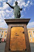 stock photo of dukes  - Early morning photo of Duke Richelieu statue in Odessa Ukraine - JPG