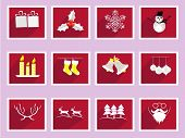 foto of rudolph  - Set of elements for Christmas and New Year greeting cards - JPG