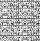 picture of art nouveau  - Vector seamless pattern with ornament in art nouveau style - JPG