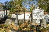 pic of urn funeral  - A very old cemetery photographed in autumn - JPG