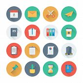 picture of dustbin  - Pixel perfect flat icons set with long shadow effect of business items office tools working objects and management elements - JPG