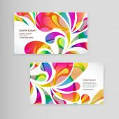 image of teardrop  - Sample business card with bright teardrop - JPG