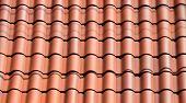 picture of florida-orange  - Clay tile roof being installed at home in Florida - JPG