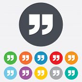 stock photo of quotation mark  - Quote sign icon - JPG