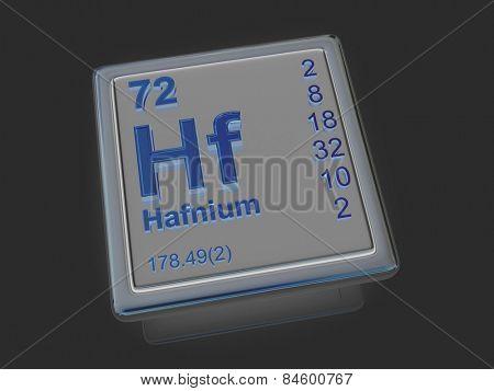 Hafnium. Chemical element. 3d
