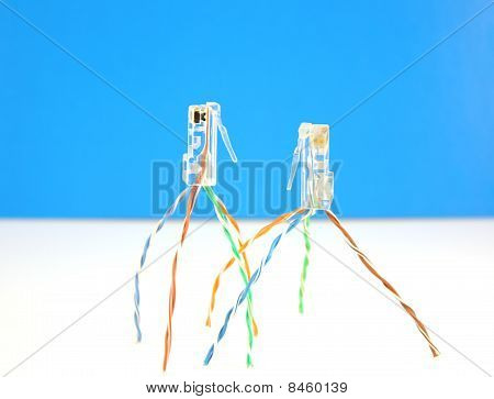 Two Connectors Rj45 For Network