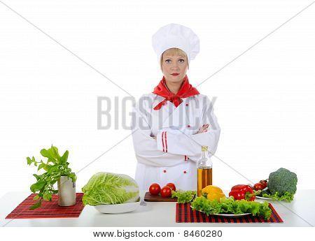 Chef Prepares Breakfast.