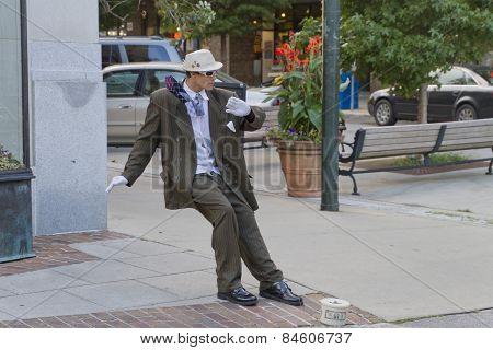 Asheville Living Street Statue
