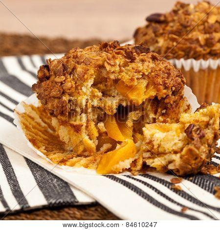 Peach Pecan and Granola Muffins