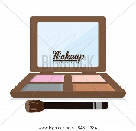 Make up design, vector illustration.