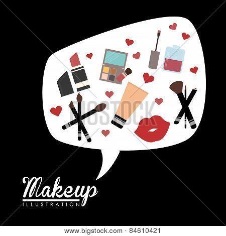 Make up design, vector illustration.